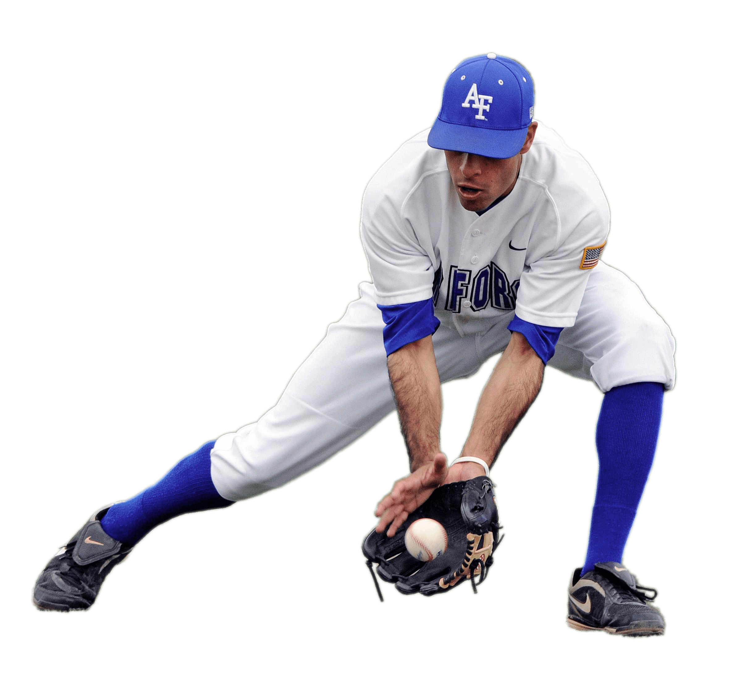 Baseball player player clipart svg transparent library Baseball Player Catching Low Ball transparent PNG - StickPNG svg transparent library