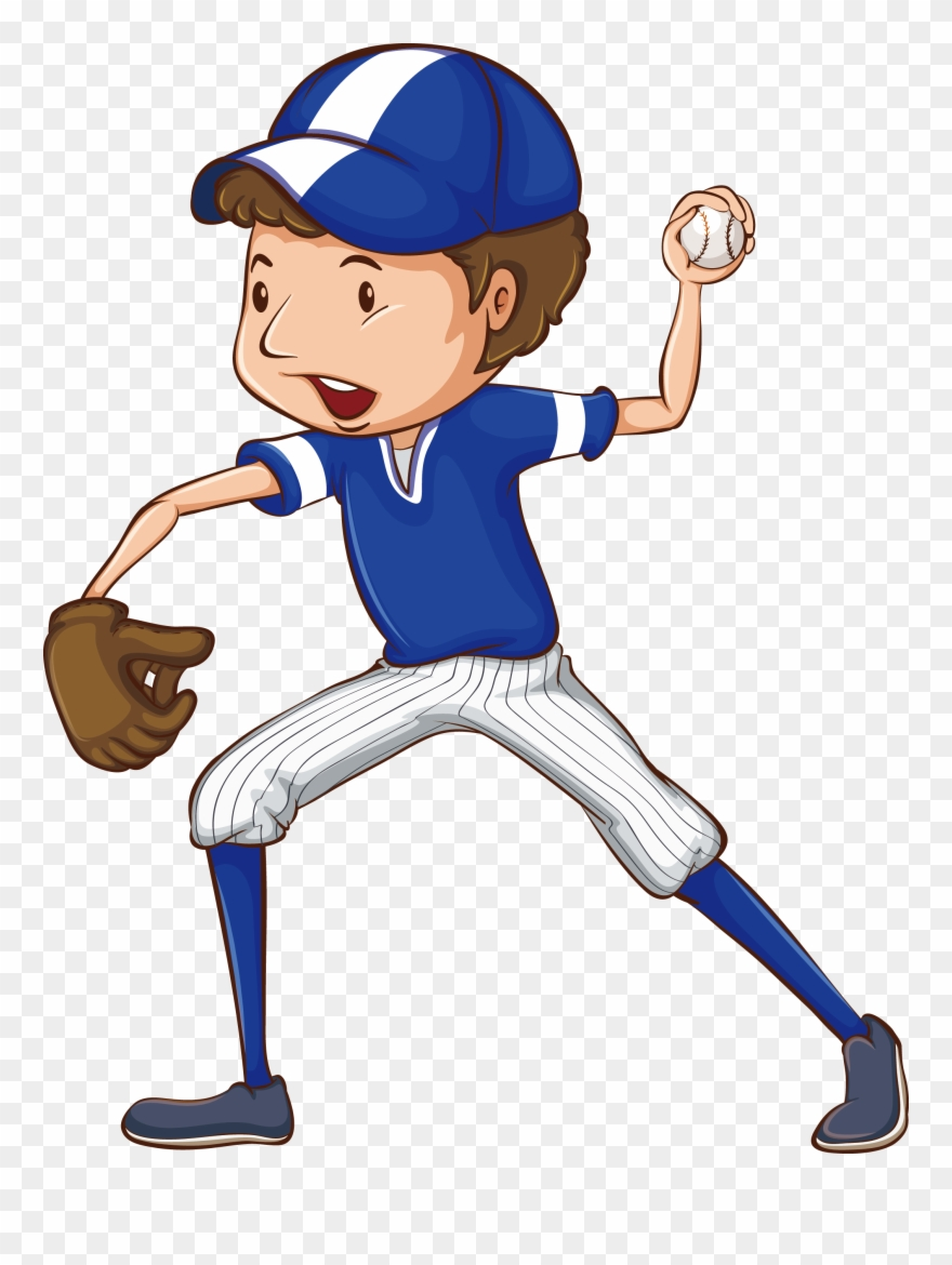 Baseball player clipart drawings svg free Clipart Free Library Baseball Clip Drawing - Baseball Player Clipart ... svg free