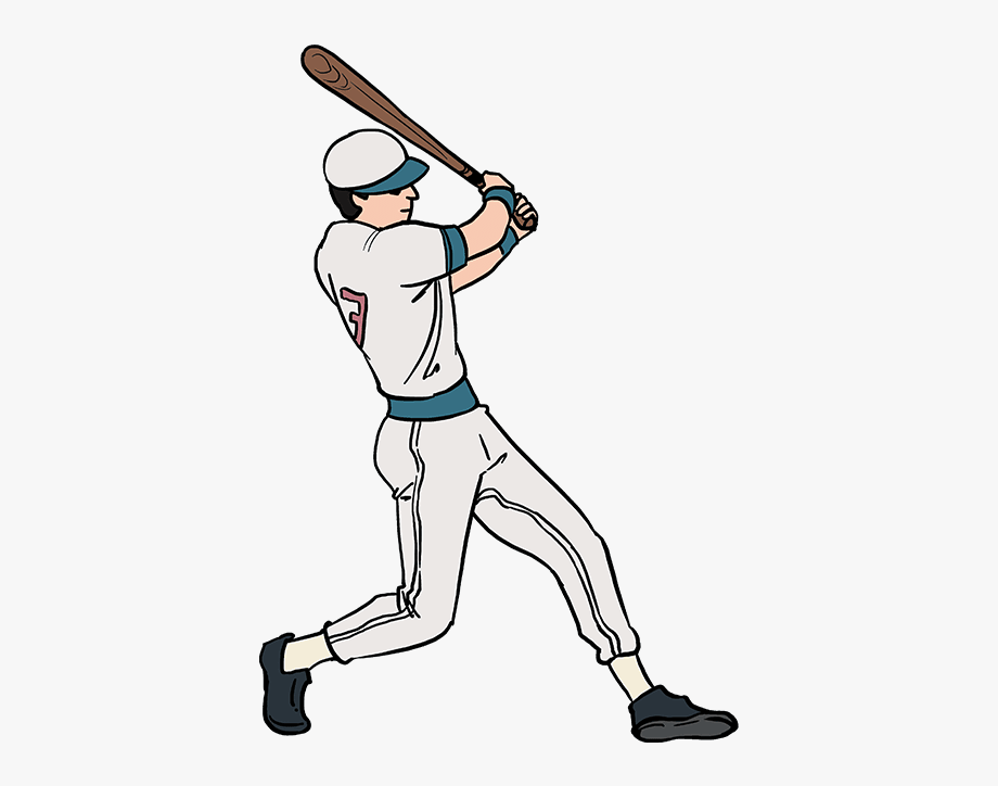 Baseball player clipart drawings png black and white library Baseball Player Clipart Batter - Baseball Player Drawing Easy ... png black and white library