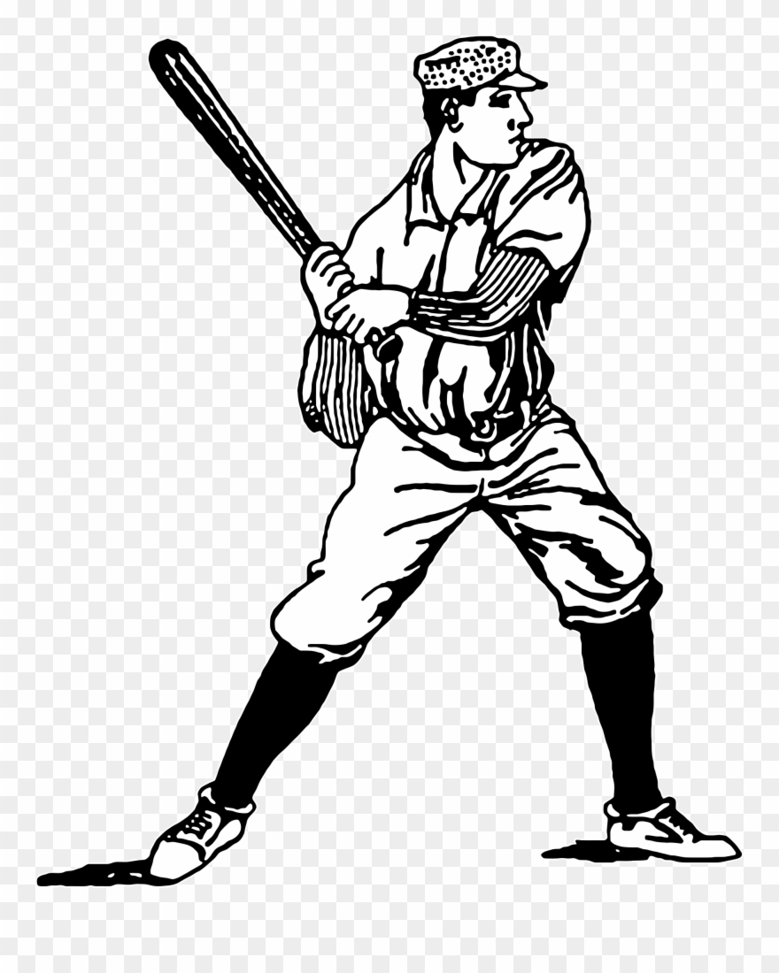 Baseball player clipart drawings graphic free library Vintage Baseball Player Clipart - Vintage Baseball Clipart Free ... graphic free library