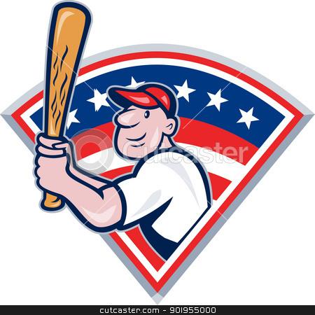 Baseball player fan clipart