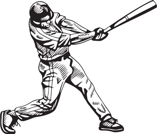 Baseball batter and catcher sketch drawing clipart picture library Baseball Player Batting Board Picture Frames Clipart #1 | Images ... picture library