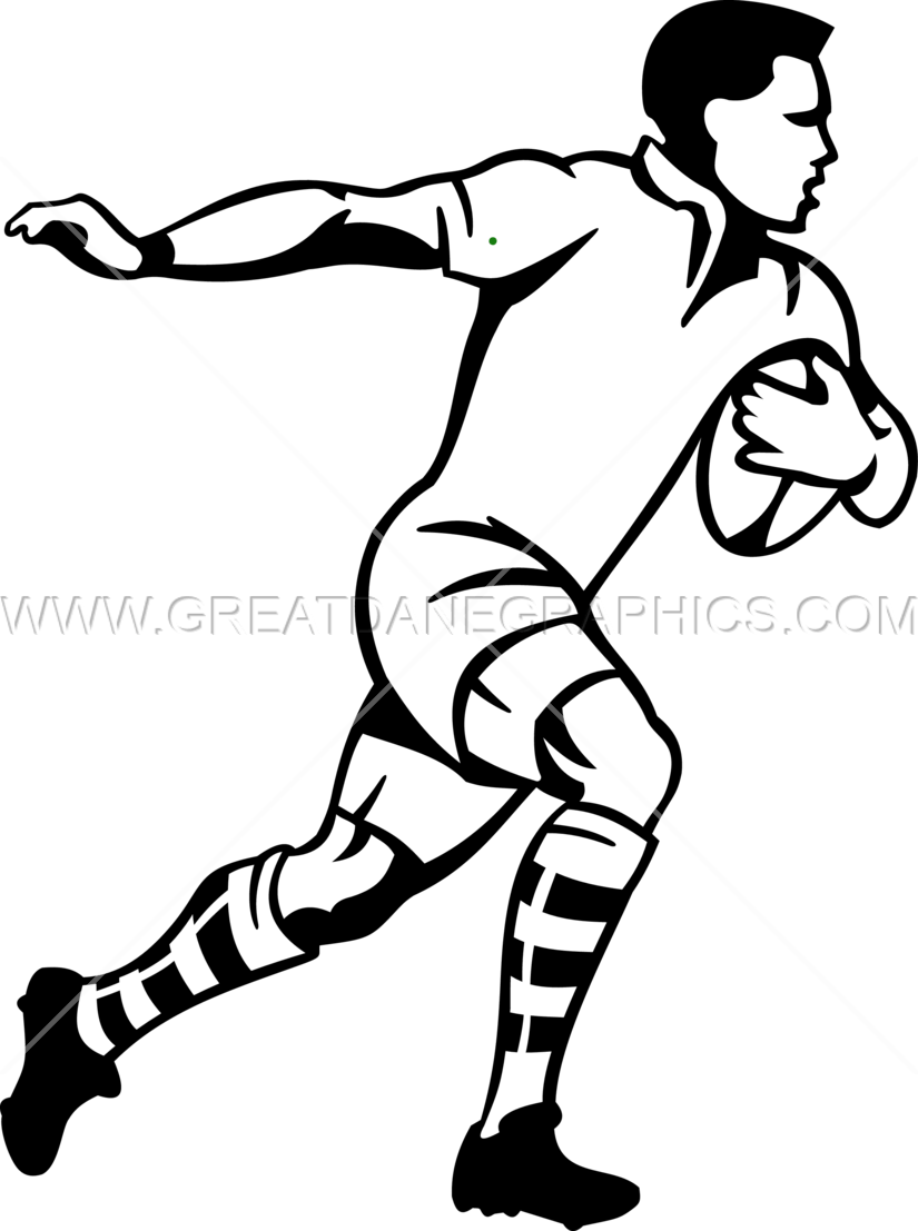 Running baseball clipart picture transparent stock Rugby Player Running | Production Ready Artwork for T-Shirt Printing picture transparent stock