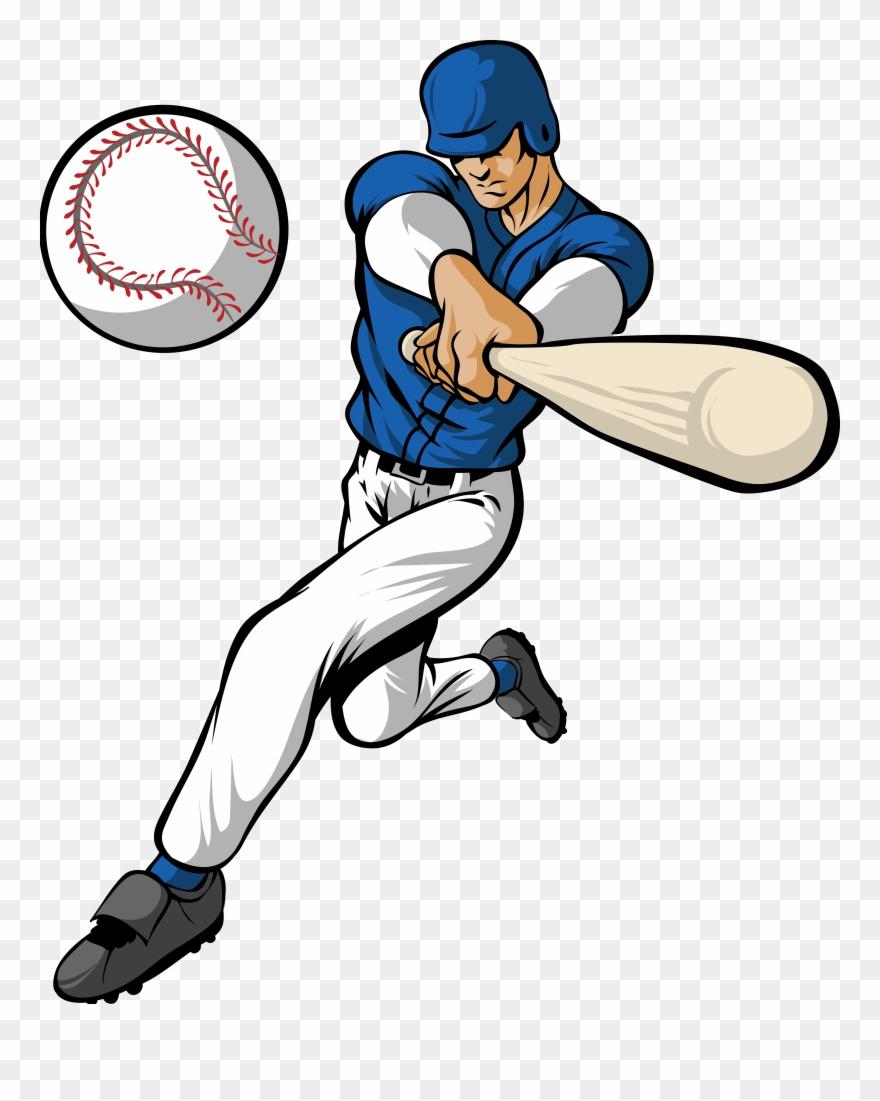 Baseball player images clipart vector transparent stock Hitting A Baseball Clipart Amp Hitting A Baseball Clip - Baseball ... vector transparent stock