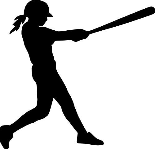 Baseball player meditation clipart png library library Pin by Cayleesnod on Silhouettes | Sports wall decals, Softball ... png library library
