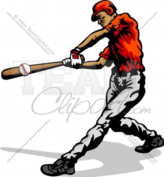 Baseball player swinging bat clipart clipart black and white Baseball Player Swinging Bat Clipart Image. clipart black and white