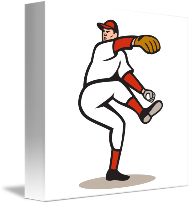 Baseball player throwing a ball clipart banner library American Baseball Pitcher Throwing Ball Cartoon by Aloysius Patrimonio banner library