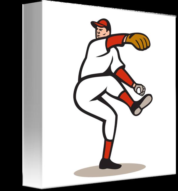 Throwing baseball clipart svg library download American Baseball Pitcher Throwing Ball Cartoon by Aloysius Patrimonio svg library download