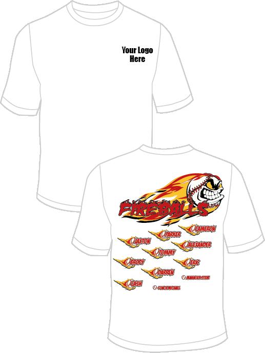 Fireballs practice t custom. Baseball shirt ideas clipart