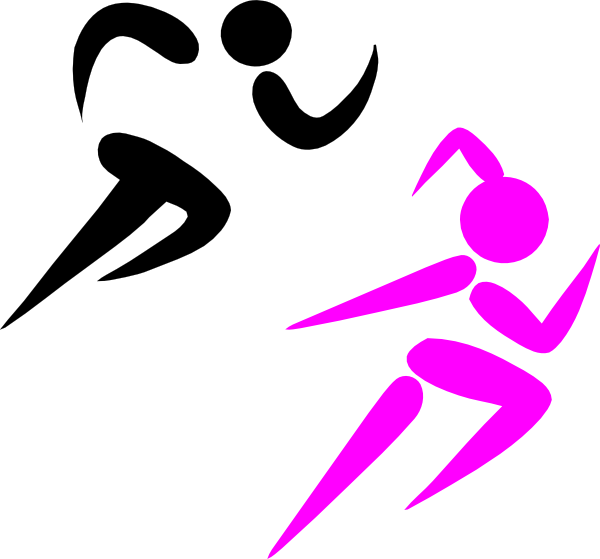 Cross country runners clipart. Running girl for free