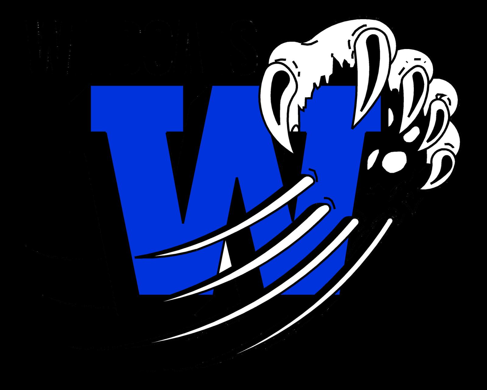 Wildcat school mascot clipart