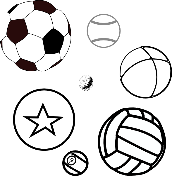 Ball coloring page free. Baseball scene clipart