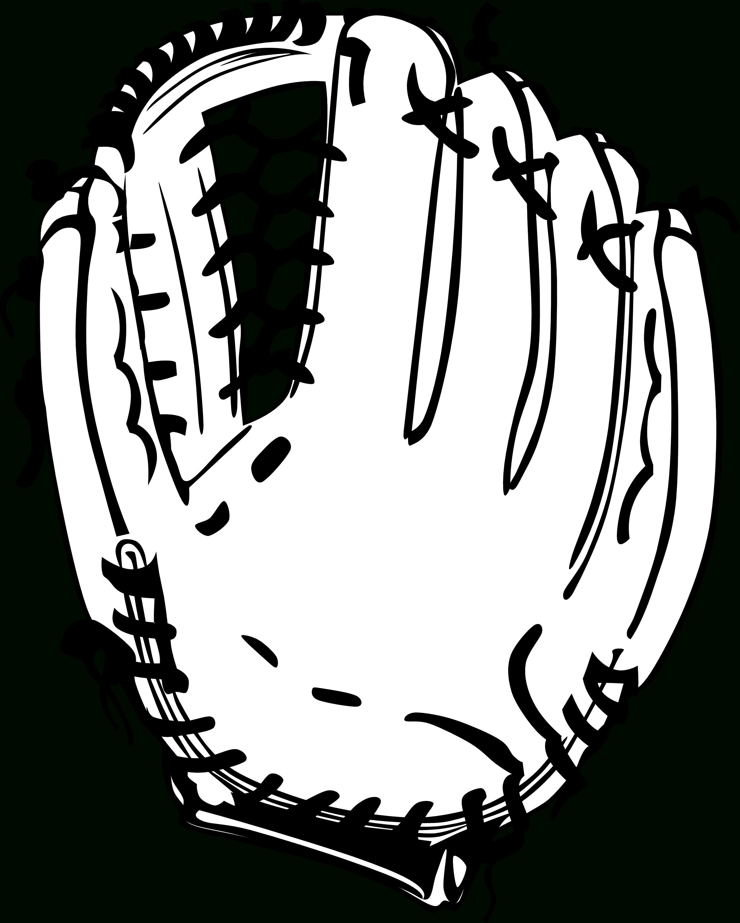 Baseball scene clipart image black and white library Baseball Glove Clipart Black And White   Letters Format image black and white library
