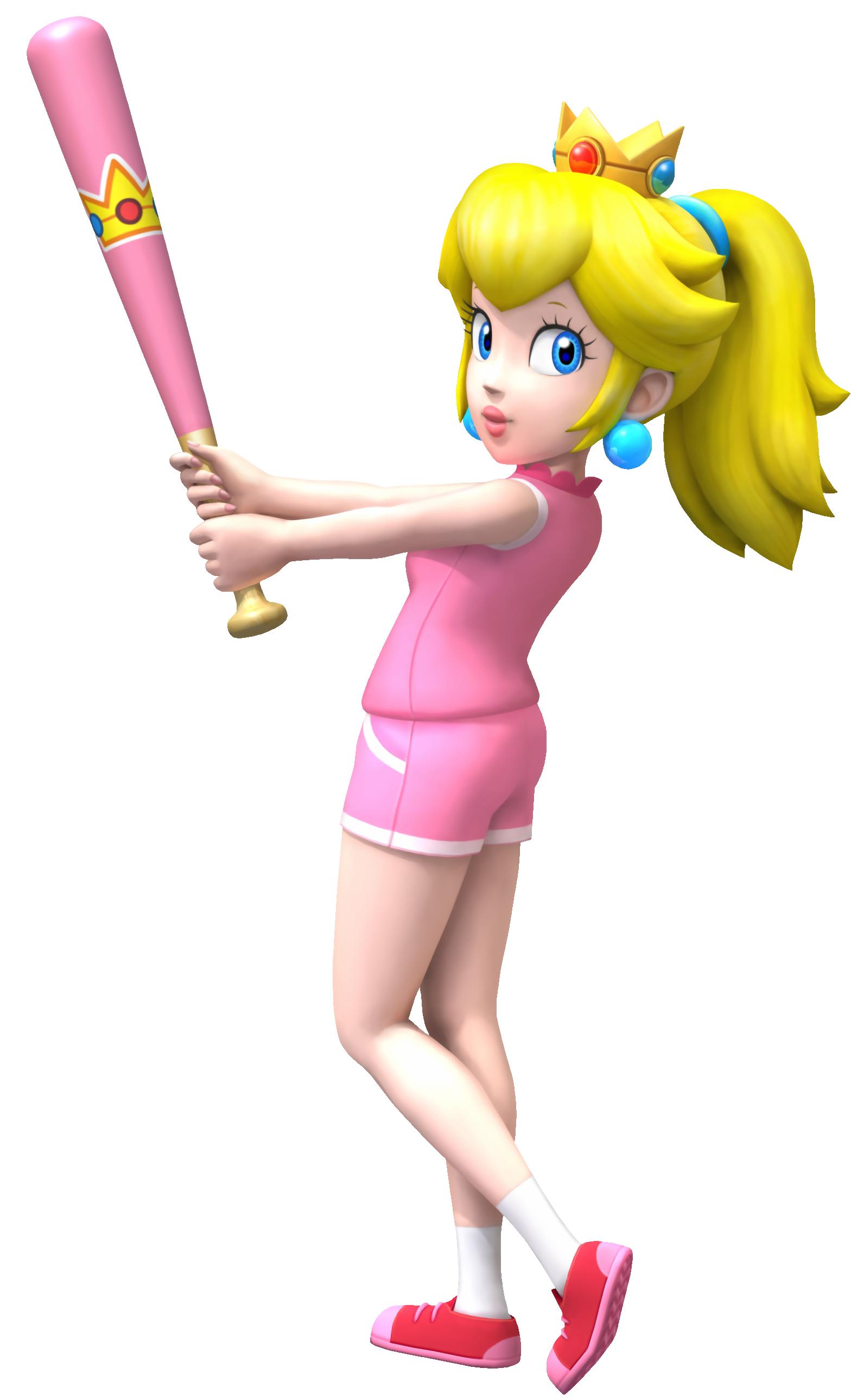 Baseball shredding clipart vector transparent Image - Super Mario Brothers - Princess Peach when playing baseball ... vector transparent