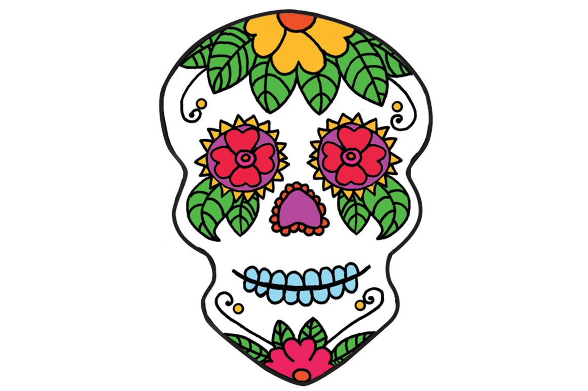 Day of the dead flower clipart png royalty free library Skull Clipart at GetDrawings.com | Free for personal use Skull ... png royalty free library
