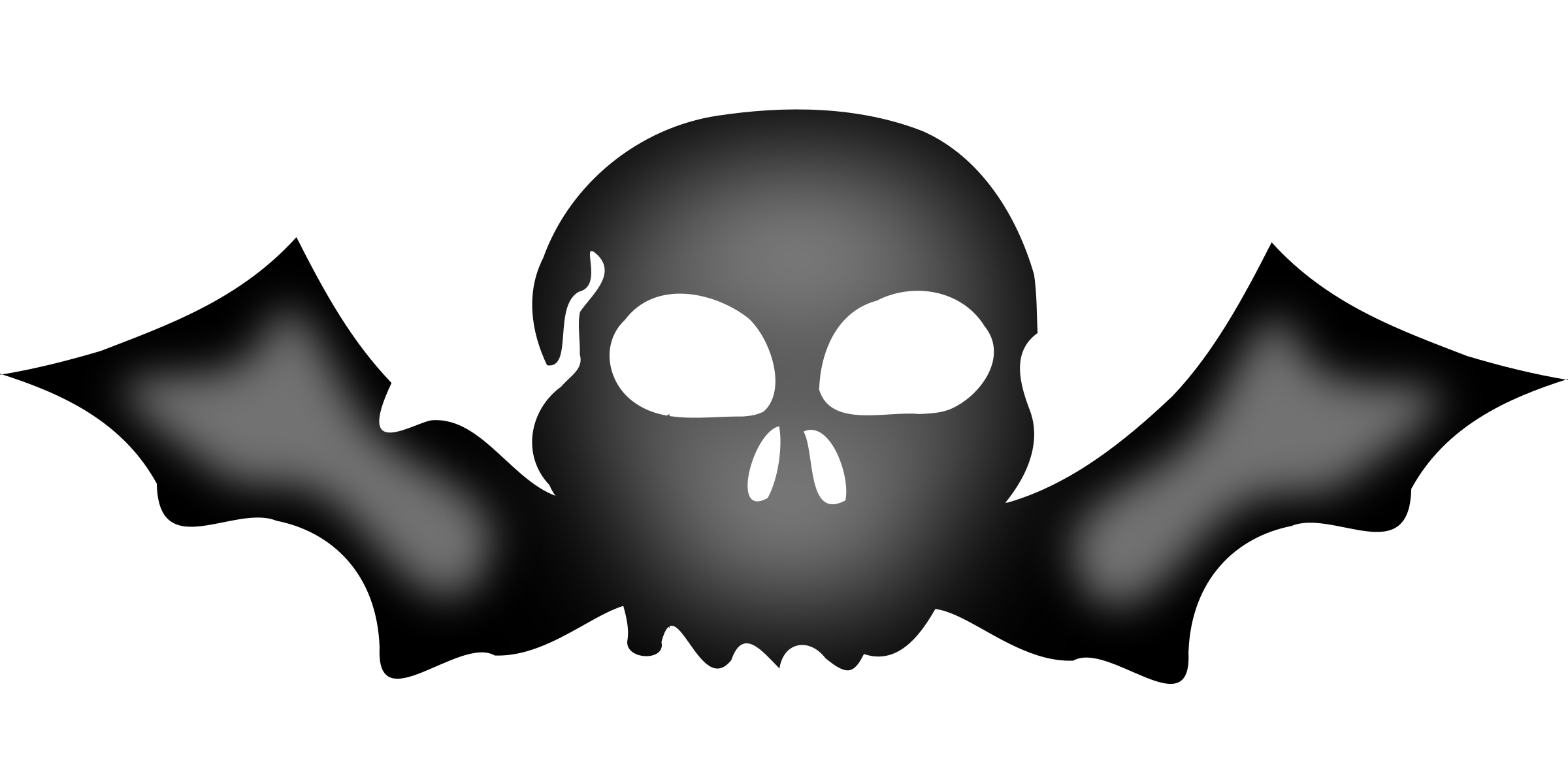 Baseball skull clipart graphic black and white stock A skull with bat wings Icons PNG - Free PNG and Icons Downloads graphic black and white stock
