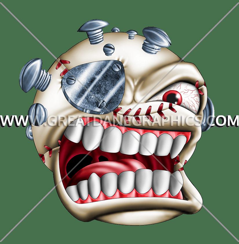 Baseball skull clipart clip art freeuse stock Monster Baseball | Production Ready Artwork for T-Shirt Printing clip art freeuse stock