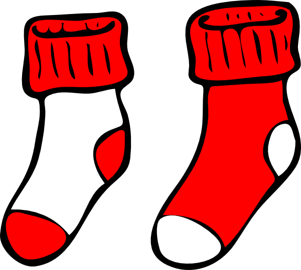 Baseball socks clipart clip art freeuse download Red And White Socks Clip Art at Clker.com - vector clip art online ... clip art freeuse download