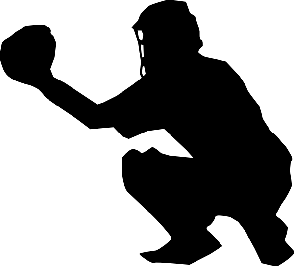 Baseball clipart catch jpg transparent library Softball Player Catcher Clipart jpg transparent library