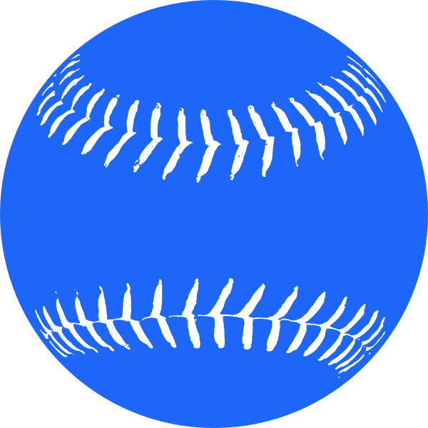 Baseball blue clipart image freeuse Blue Softball 2 Clip Art at Clker.com - vector clip art online ... image freeuse
