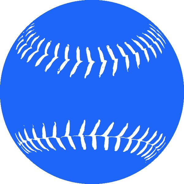 Baseball & softball clipart picture transparent Blue Softball 2 Clip Art at Clker.com - vector clip art online ... picture transparent