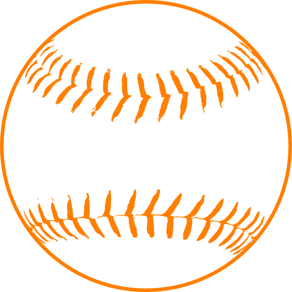 Baseball & softball clipart picture transparent download Orange Softball Clip Art at Clker.com - vector clip art online ... picture transparent download