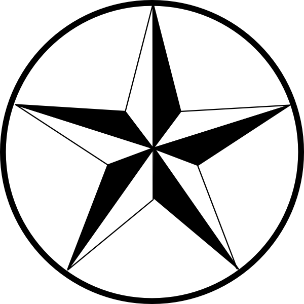 Black star clipart clip art royalty free download Texas Star Clip Art at Clker.com - vector clip art online, royalty ... clip art royalty free download