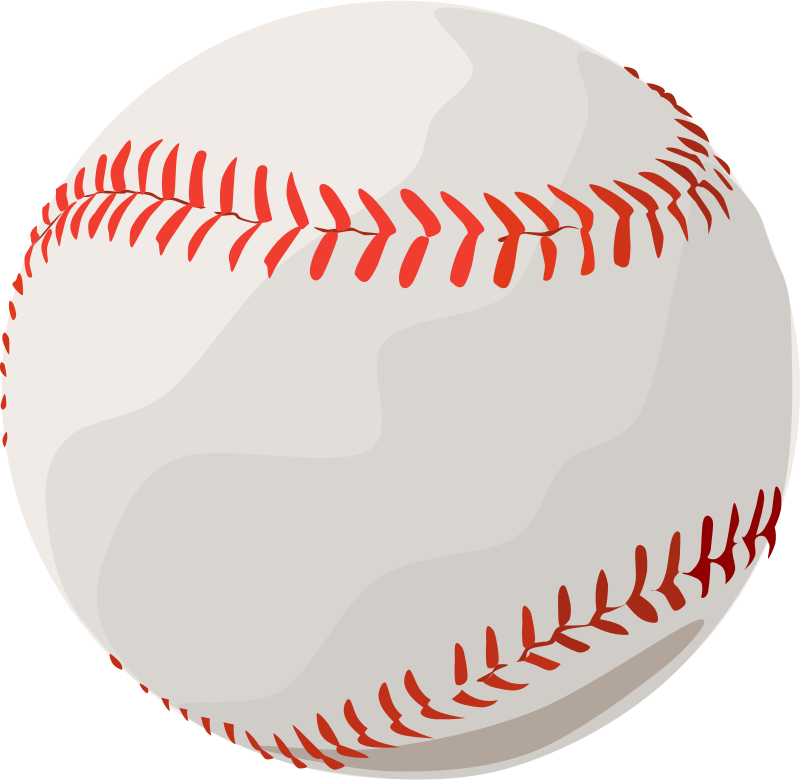 Baseball stitches clipart vector. Image for sport clip
