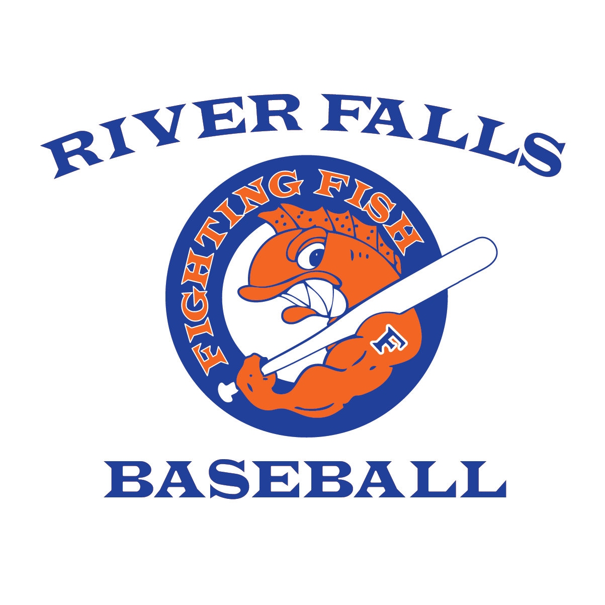 Baseball stitch clipart large print image black and white library River City Stitch   River Falls Fighting Fish Archives - River City ... image black and white library
