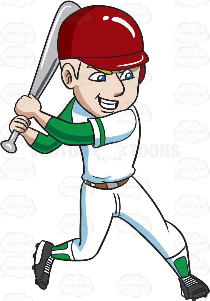 Baseball swing clipart by frame banner royalty free A baseball player about to aggressively hit a ball #cartoon #clipart ... banner royalty free