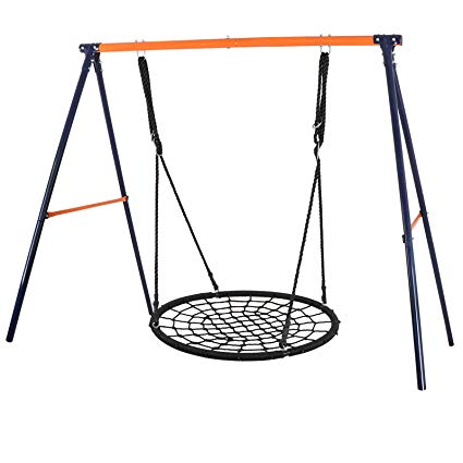 Baseball swing clipart by frame png transparent library ZENY 40\'\' Kids Spider Web Tree Net Swing Round Spider Net Swing Platform  Set with Adjustable Hanging Ropes Kits,Strong to Hold 600 lbs,Great for ... png transparent library