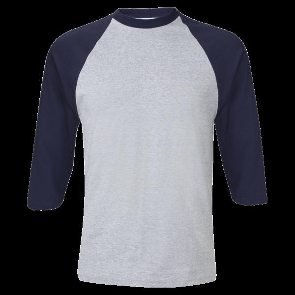 Baseball tee clipart png free download ¾ Sleeve Raglan Baseball T-Shirt - Custom T Shirts Printing   DLV ... png free download
