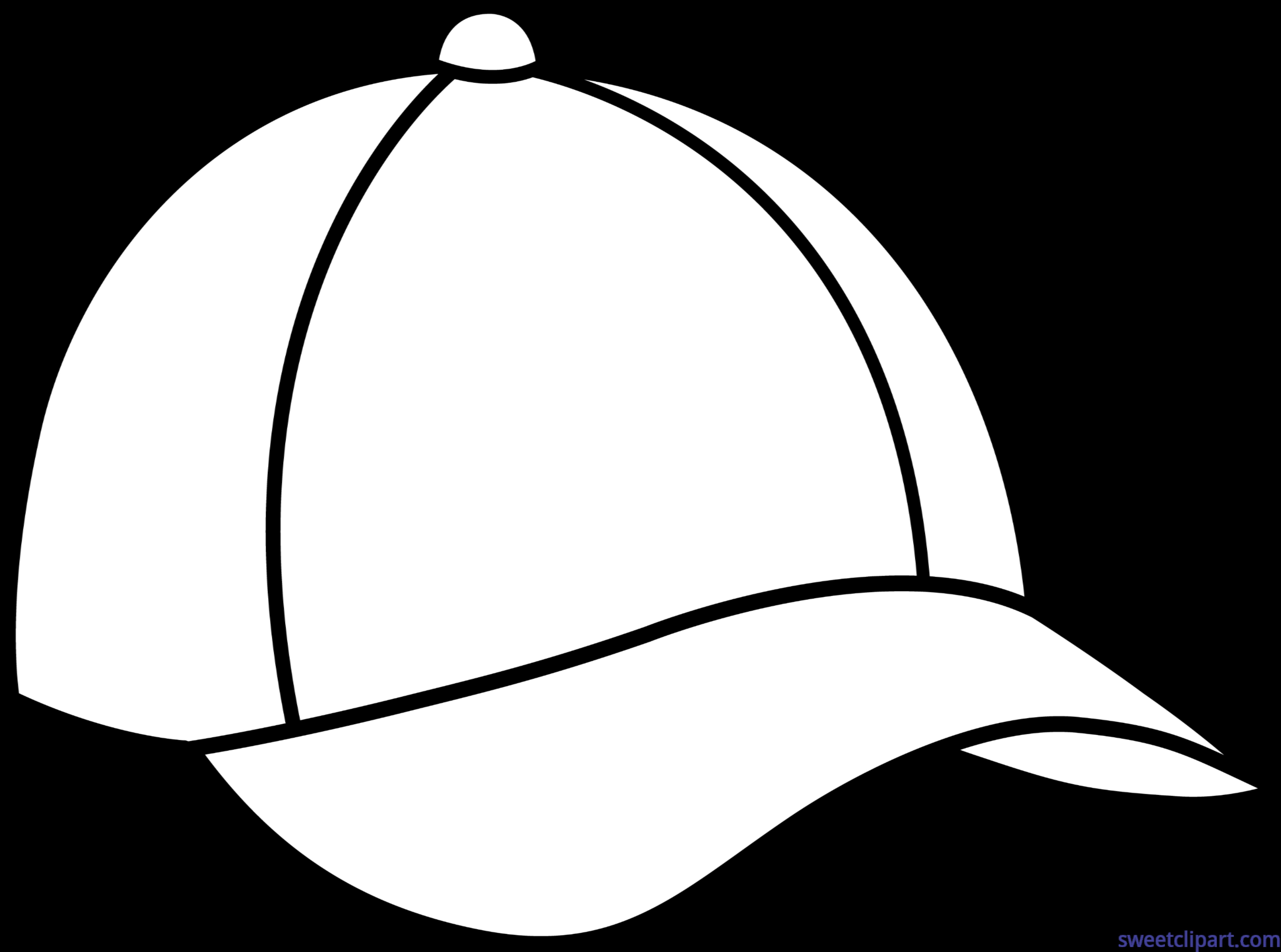 Baseball thread clipart image free stock Baseball Cap Lineart Clip Art - Sweet Clip Art image free stock