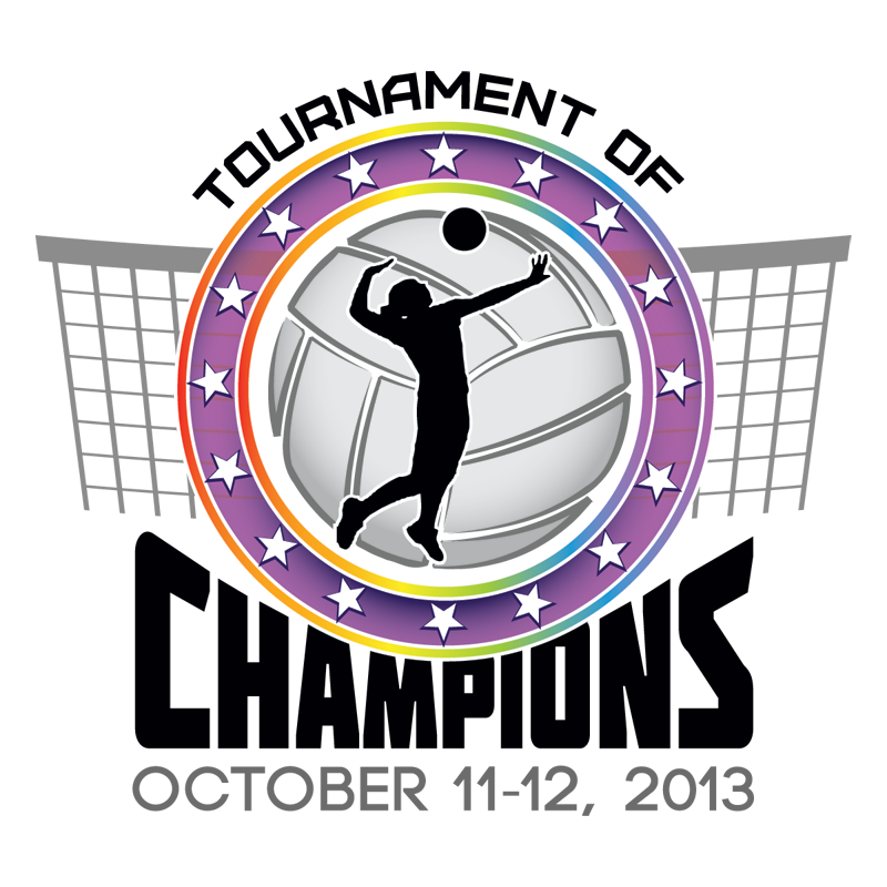 Tournament of champions spectrum. Basketball and volleyball clipart