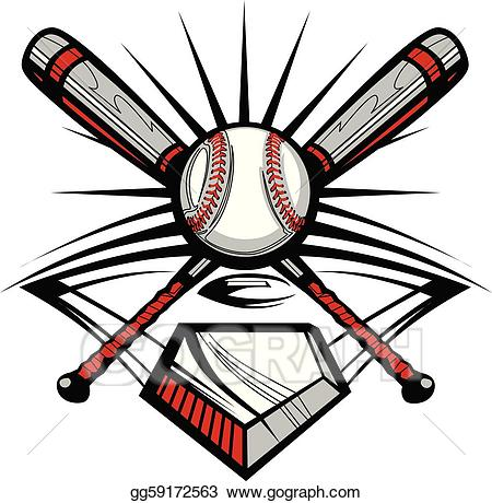 Baseball tribal clipart clip art royalty free stock Vector Art - Baseball or softball crossed bats w. Clipart Drawing ... clip art royalty free stock
