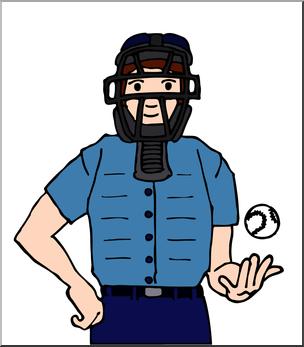 Baseball umpires clipart image royalty free stock Clip Art: Baseball Umpire Color I abcteach.com   abcteach image royalty free stock