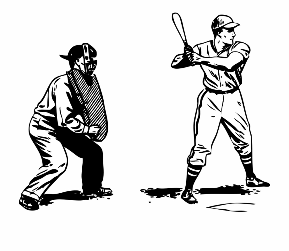 Baseball umpires clipart graphic freeuse Baseball Batter Umpire - Black And White Umpire Clipart Free PNG ... graphic freeuse