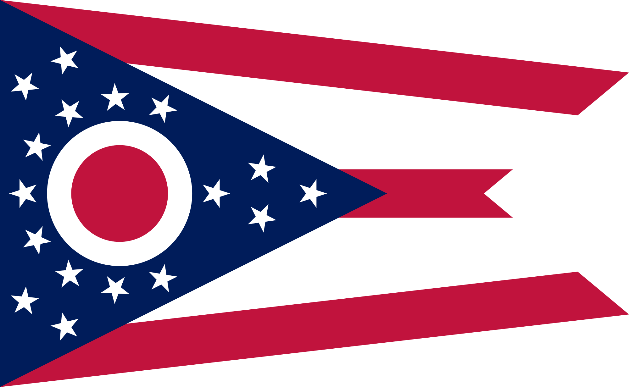 Usa flag star black and white clipart vector black and white Flag of Ohio - Wikipedia vector black and white