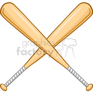 Baseball with bats crossed clipart image free download Two Crossed Baseball Bats clipart. Royalty-free clipart # 396073 image free download