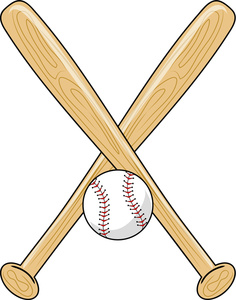 Baseball with bats crossed clipart vector free download Crossed Baseball Bat Clipart | Free download best Crossed Baseball ... vector free download