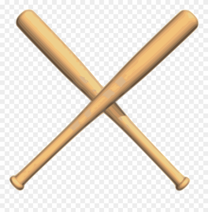 Baseball with bats crossed clipart svg freeuse library Crossed Bats Baseball - Crossed Baseball Bat Png Clipart (#39310 ... svg freeuse library