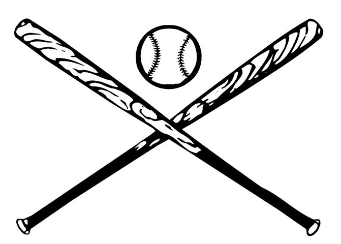Baseball with bats crossed clipart picture library Cross Baseball Bats | Free download best Cross Baseball Bats on ... picture library