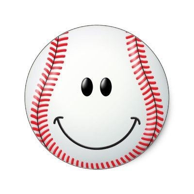 Baseball with face clipart graphic transparent download Baseball Face Classic Round Sticker | Zazzle.com | sharing my ... graphic transparent download