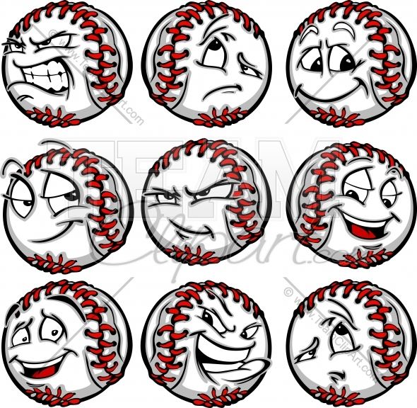 Baseball with face clipart svg freeuse library Baseball Face Clipart Clipart Image. svg freeuse library