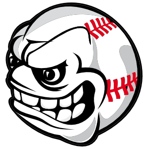 Baseball with face clipart svg freeuse library Baseball With Angry Face Magnet svg freeuse library