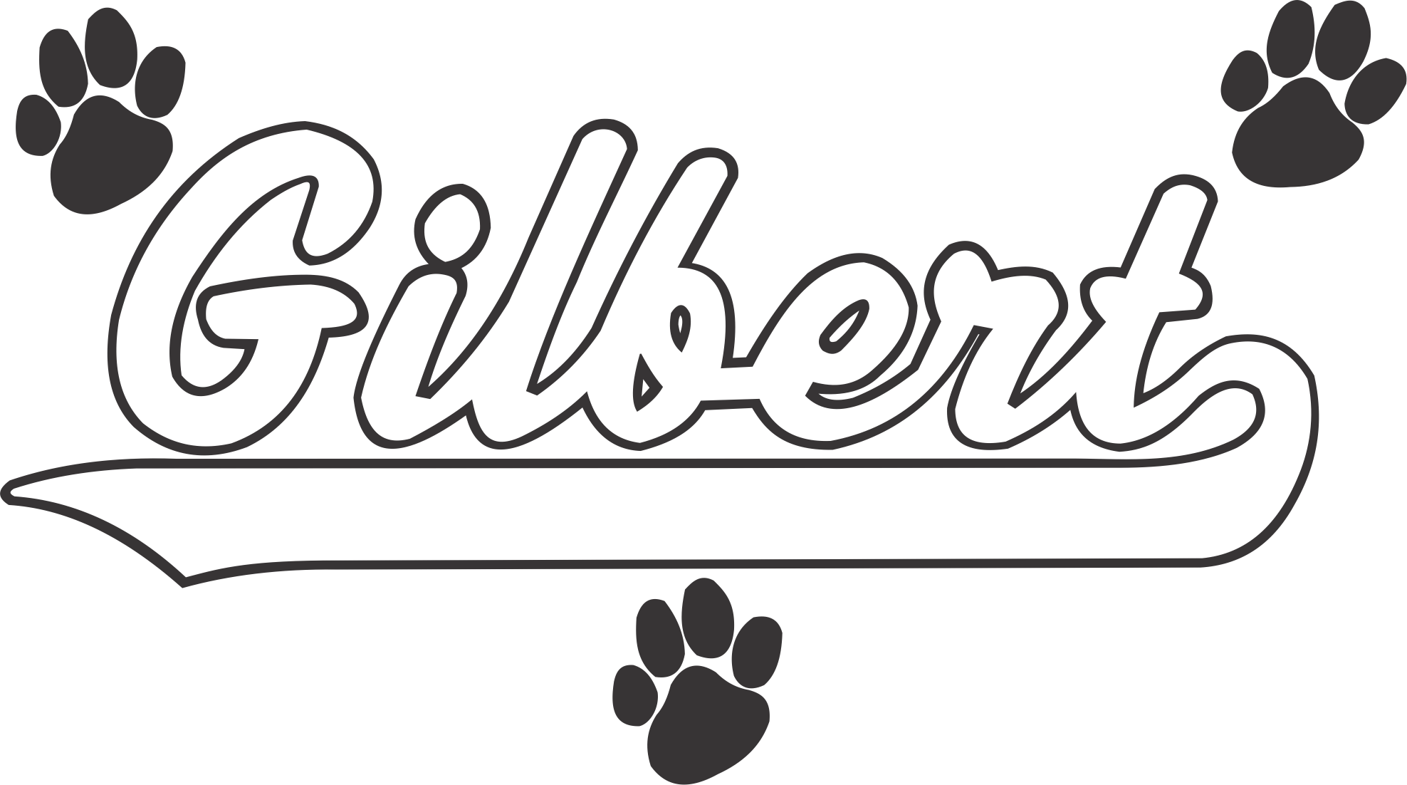 Baseball with flame in tail black and white clipart png transparent stock Phoenix Script with Tail and Paws - USA Custom Jackets png transparent stock