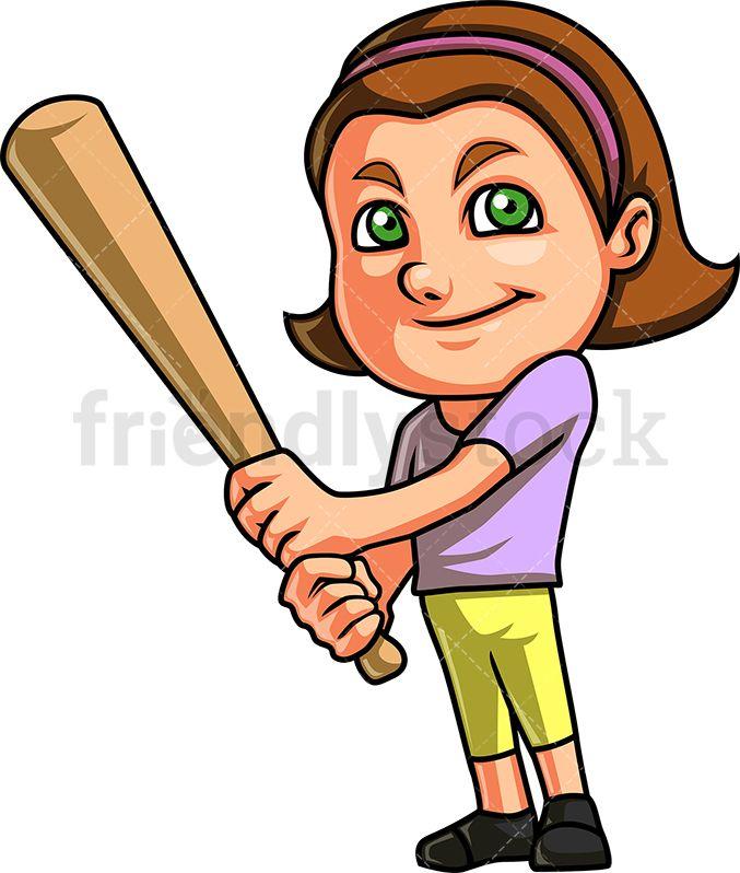 Baseball with hair clipart library Little Girl Playing Baseball | 19 mayıs library