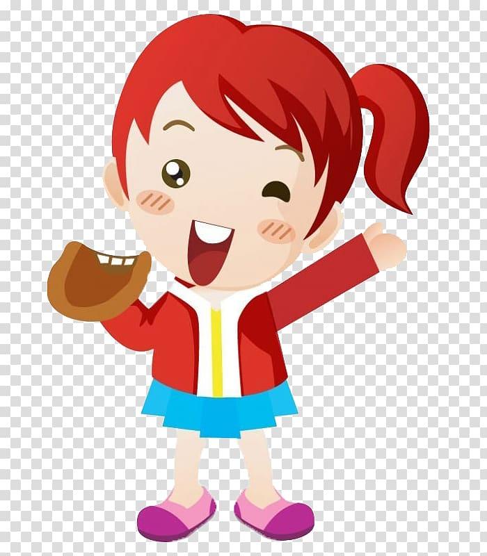 Baseball with hair clipart clip freeuse download Baseball Cartoon, Playful girl transparent background PNG clipart ... clip freeuse download