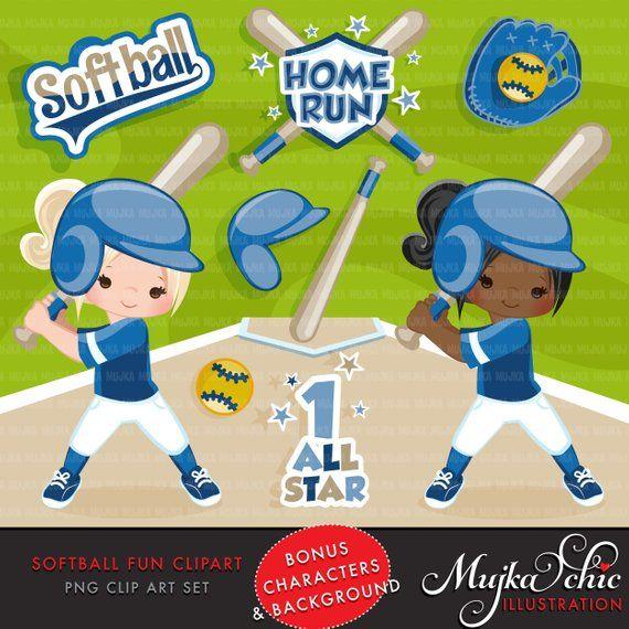 Baseball with hair clipart jpg black and white library Softball Clipart. Blue Softball graphics, baseball players, baseball ... jpg black and white library