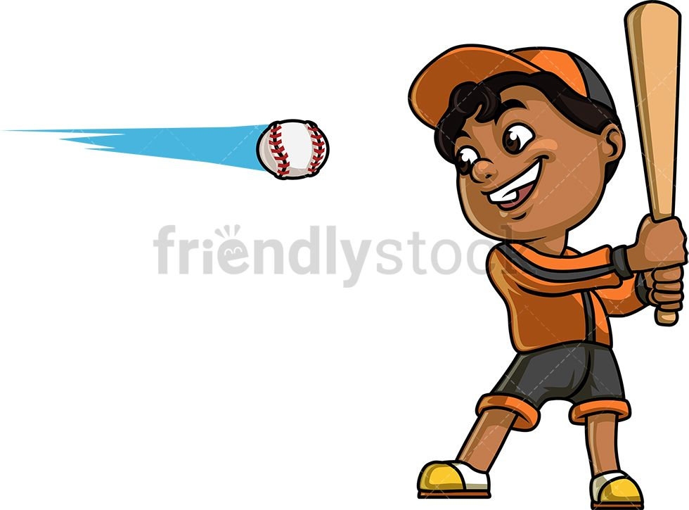 Baseball with hair clipart png library library Little Boy Playing Baseball | Kids Clipart | Boys playing, Dark ... png library library